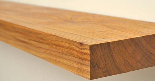 Detail van de massief houten iepen boekenplank tv kast pinterest boekenplank tv en kast - Balk decoratie ...