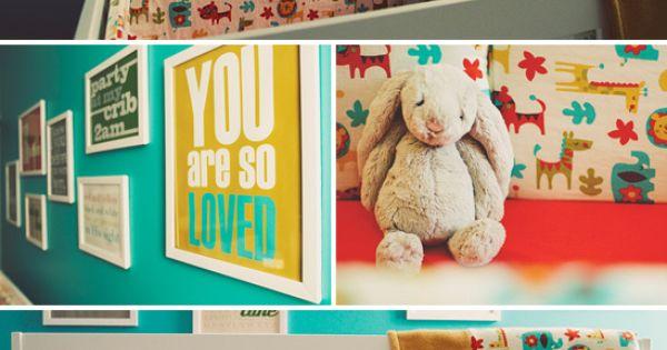 Baby Boy Nursery nursery - love the bright colors
