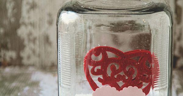 Valentine Snow Globe from a baby food jar!