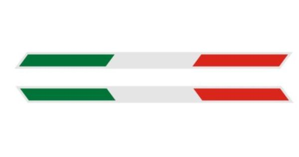 ITALY  ITALIA FLAG 3D DOMED Decal Sticker