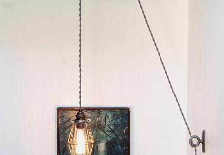 kit de bricolage pour fonte antique ou poulie bois lampe luminaire vintage industrielle edison. Black Bedroom Furniture Sets. Home Design Ideas