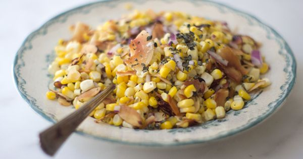 Coconut Corn Salad - Butter, corn, sea salt, fresh thyme, big coconut