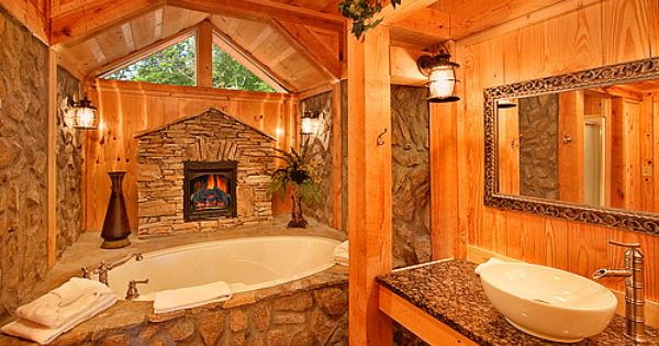 Ahhh Home Decor Pinterest Cabin Bathroom And Log Cabins