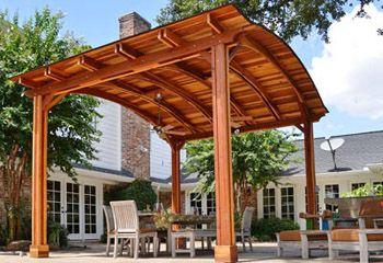 Del Norte Outdoor Kitchen Pavilion Redwood Pavilion Kit For Kitchens Backyard Pavilion Pergola Outdoor Pavilion