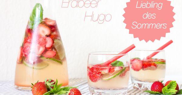 rezept erdbeer hugo mit und ohne alkohol sommer drink erdbeer bowle essen und trinken. Black Bedroom Furniture Sets. Home Design Ideas