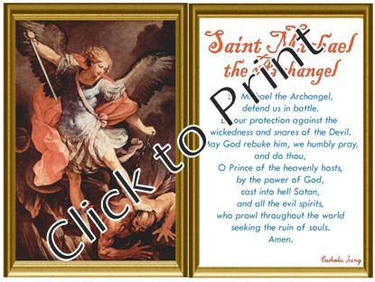 Orthodox Archangel Michael Saint Michael Holy Card Saint Michael Prayer Card Kids Saint Michael Prayer Catholic art print