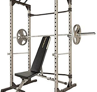 Amazon Com Fitness Reality 810xlt Super Max Power Cage With The 800 Lb Capacity Super Max 1000 Weight Bench C No Equipment Workout Weight Benches At Home Gym