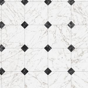 Trafficmaster Black And White Marble Paver 12 Ft Wide X Your Choice Length Residential Vinyl Sheet U1 Vinyl Sheet Flooring Black And White Marble Marble Vinyl