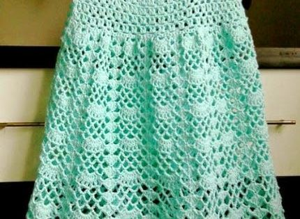 Crochet for children beautiful lacy dress free pattern crochet