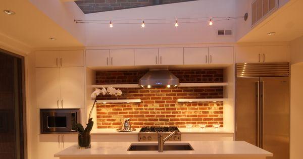 Kitchen skylight kitchenisland exposedbrick Photo Credit Dennis Hornick
