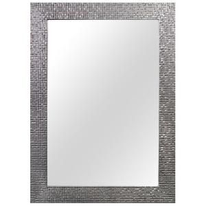 Home Decorators Collection 24 35 In W X 35 35 In L Framed Wall Mirror In Silver 81159 The Home Depot Framed Mirror Wall Frames On Wall Mirror Wall