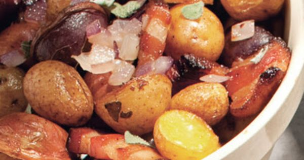 Roasted potatoes, Onions and Bacon on Pinterest