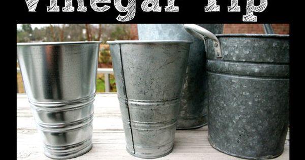 Tip - Spray vinegar onto shiny buckets to give them that aged
