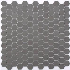 Lyric Unglazed Porcelain Hexagon Mosaic Tile In Charcoal Gray Hexagonal Mosaic Hexagon Mosaic Tile Grey Mosaic Tiles