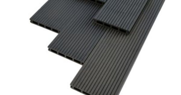 Ebony reversible composite deckboard pack of 7 for Composite decking wickes