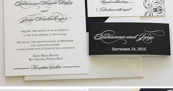 Beautiful black art deco wedding invitation design Customizable – P Diddy White Party Invitation