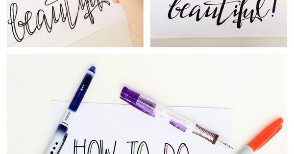How to create fake calligraphy beautiful bristol and