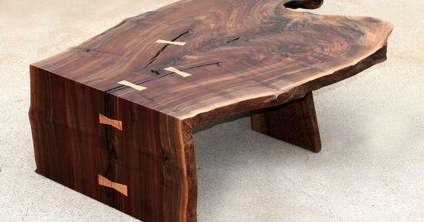 Custom Made Modern Coffee/Cocktail Table, Waterfall