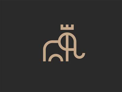 King Elephant Logotipos De Diseno Grafico Logotipo De Animal