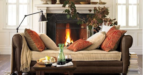 Comfy Pillows And Throws Warm Up This Cozy Spot