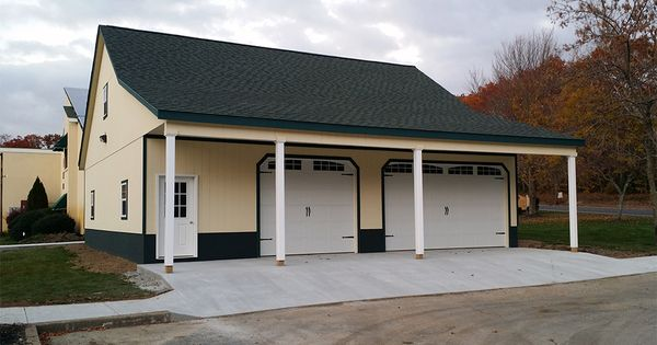 40x40 modular garage with second floor and 8 39 overhang for Prefab garages with living quarters