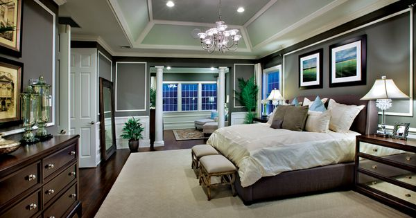 Master Bedroom Designs With Sitting Areas master bedroom with cofferred ceiling and private sitting area