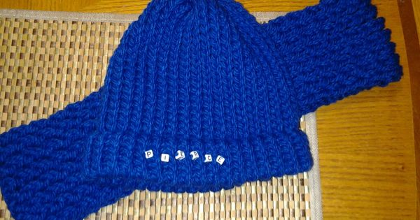 Knitting Loom Set South Africa : Loom knit hat and scarf set for a child i used square