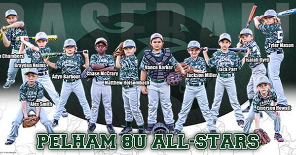 Custom Team Baseball Banner Pelham 8u All Stars Frenzy Designs Baseball Banner Baseball Baseball Design
