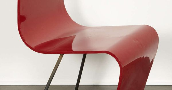 André Bloc. Bellevue Chair. 1950s. Lacquered, S Shaped Plywood, On Steel  Structure. Designed For Blocu0027s Bellevue House In Meudon. 77 Cm X 39 Cm X U2026