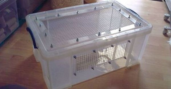 How To Make A Hamster Bin Cage Hamster Storage Box Hamster Diy Cage Hamster Bin Cage Hedgehog Cage