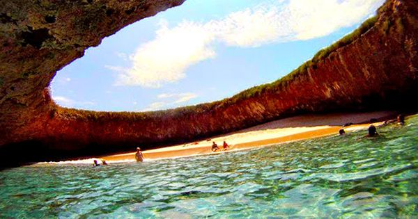 Amazing Hidden Beach on Marieta Islands, Mexico More At Amazing World