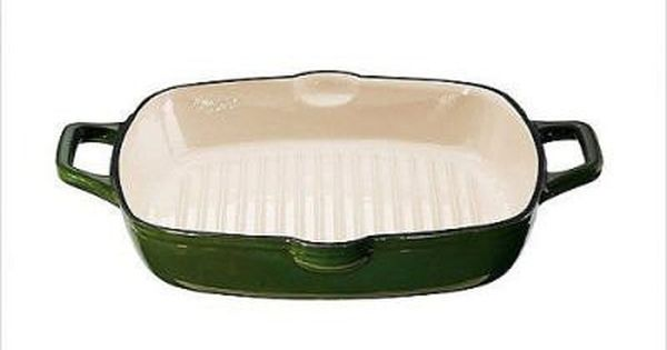 Kitchenaid 12 Inch Cast Iron Square Grill Pan Green Kitchen Aid Grill Pan Cast Iron