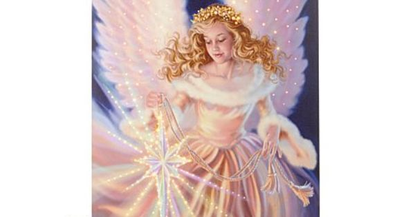 Winter lane fiber optic lighted canvas 18 quot x24 quot angel electronics