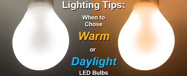 Choosing Daylight Or Warm Color Bulbs Choosing Light Bulbs Bulb Family Room Lighting