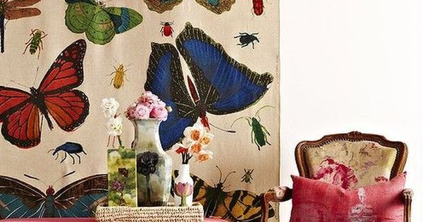 Interiors are all a flutter this spring butterfly for Butterfly mural wallpaper