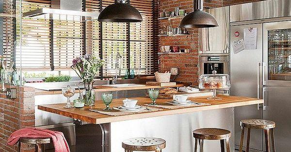 le lustre industriel une inspiration d pareill e cuisine inspiration et design. Black Bedroom Furniture Sets. Home Design Ideas