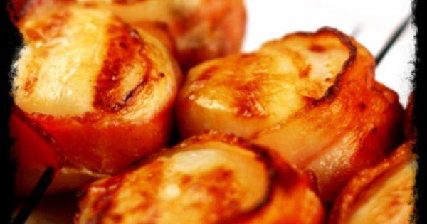 Bacon, Scallops and Grilled scallops on Pinterest