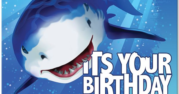 Image result for happy birthday shark theme clip art
