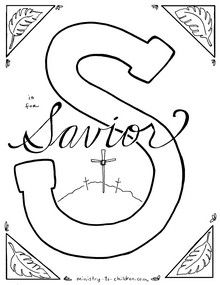 S Is For Savior Bible Alphabet Coloring Page Christian Coloring Bible Coloring Pages Bible Verse Coloring Page