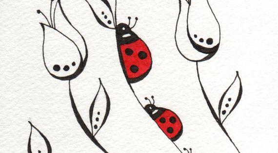 lady bugs Comments by Vera Lessa - Ladybugs Desenho simples de joaninhas. Ótimo para praticar desenhos orgânicos (curvas).