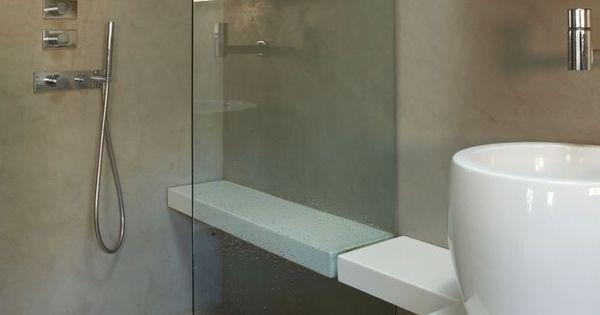 r novation salle de bain douche sans joint et sans carrelage bathroom inspiration interior. Black Bedroom Furniture Sets. Home Design Ideas
