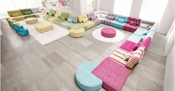 Eurostyle Furniture Montreal Sectional Arianne Floor Seating Living Room Furniture Home Decor
