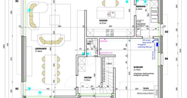 Grondplan moderne woning google zoeken huis for Kostprijs huis bouwen zonder grond