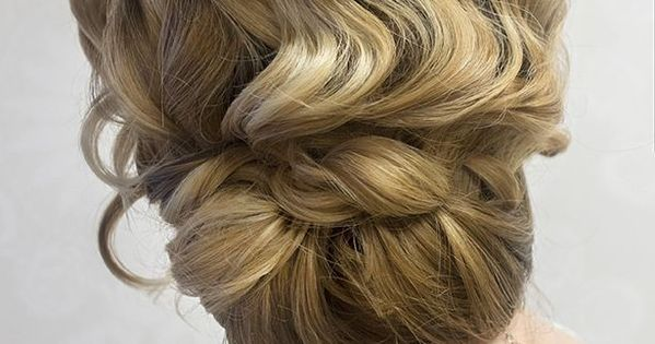 Love The Finger Wave Effect Of This Romantic Wedding Updo