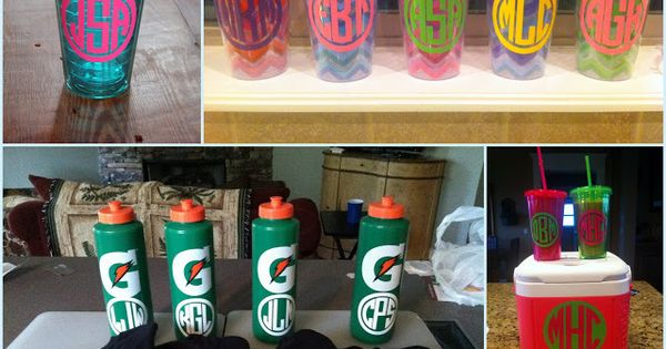 How To Make Waterproof Vinyl Monograms Because
