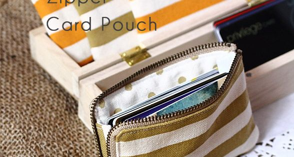 credit card pattern & tutorial to sew a zipper card pouch. Would