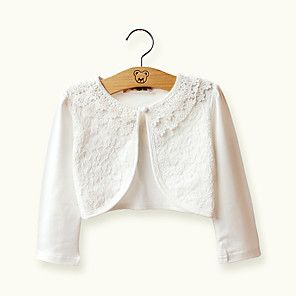 Chic Baby Little Girls White Beaded Bolero Shrug Sweater Size 7//8