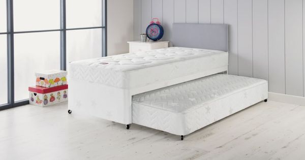 Buy airsprung elliott deluxe single divan bed with trundle at your online shop for Argos single divan beds