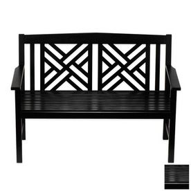 Swell Lowes Black Chippendale Bench Also In White 227 00 Dailytribune Chair Design For Home Dailytribuneorg
