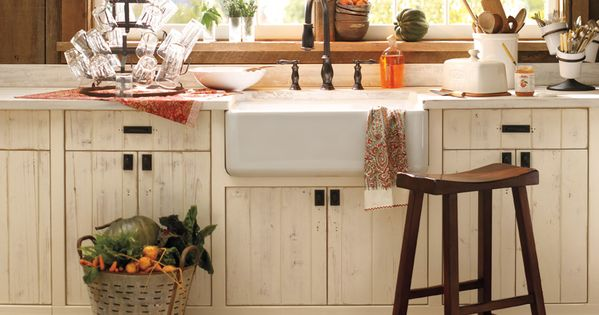Barn Sinks For Kitchen : pottery barn - antique kitchen cupboards with farmhouse sink Kitchen ...
